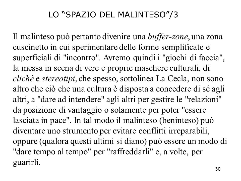 LO SPAZIO DEL MALINTESO /3