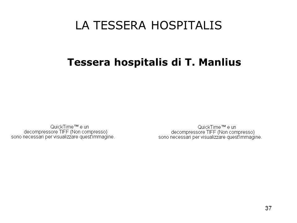 Tessera hospitalis di T. Manlius