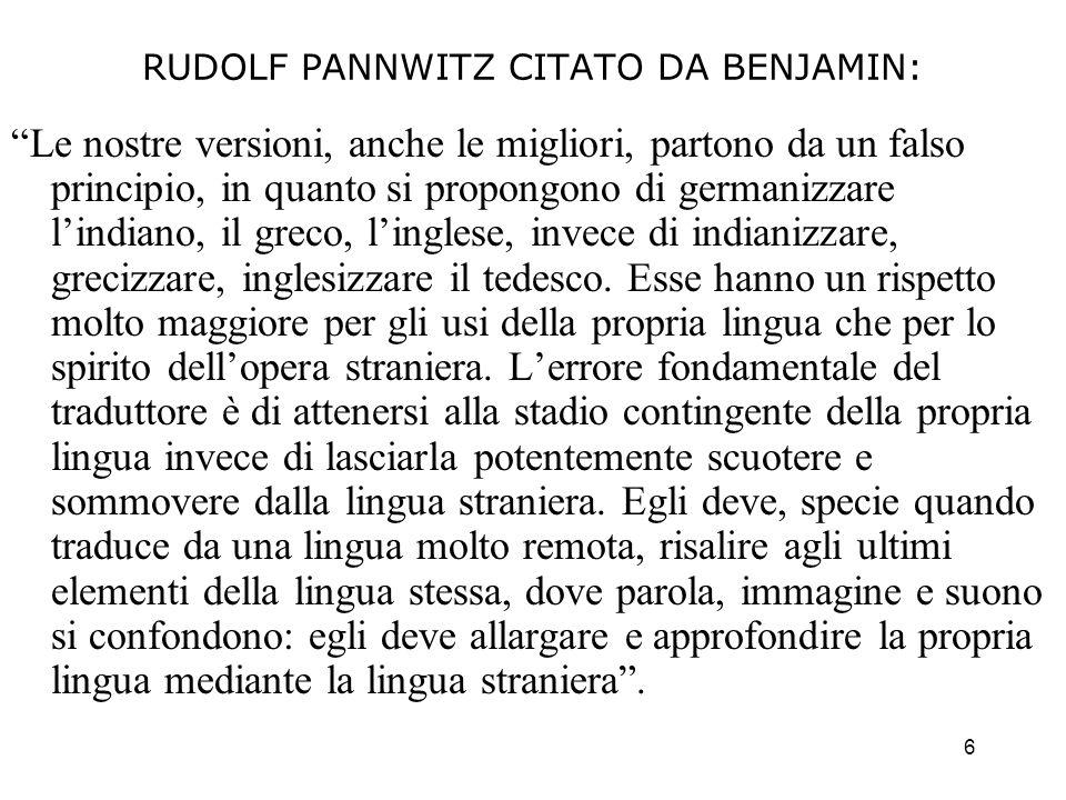 RUDOLF PANNWITZ CITATO DA BENJAMIN: