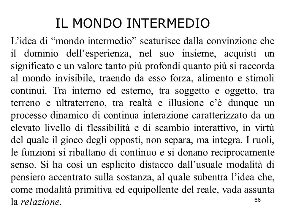 IL MONDO INTERMEDIO