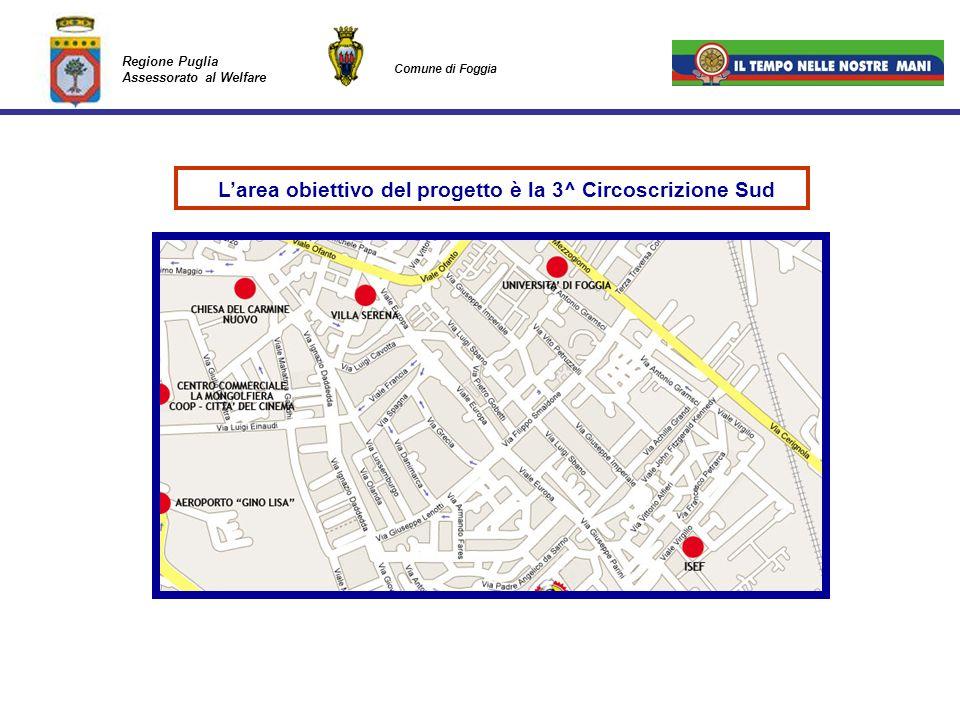 L'area obiettivo del progetto è la 3^ Circoscrizione Sud