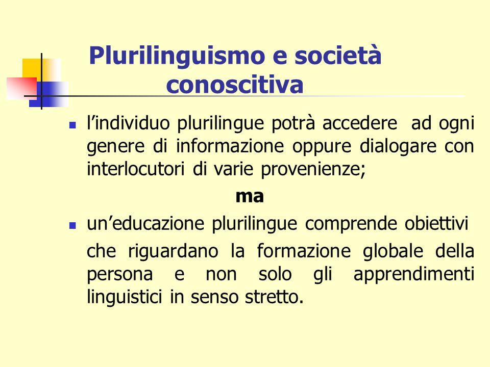 Plurilinguismo e società conoscitiva