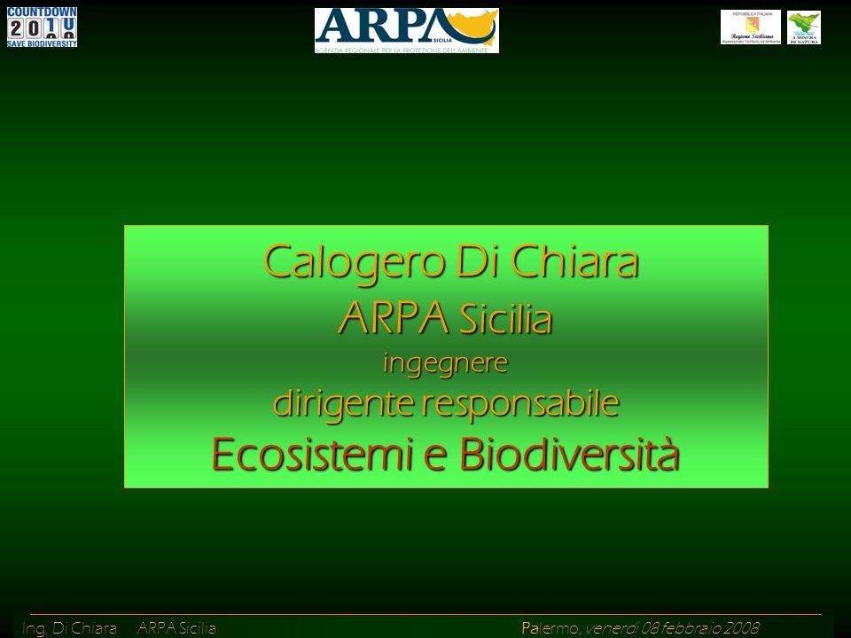 Calogero Di Chiara ARPA Sicilia ingegnere dirigente responsabile Ecosistemi e Biodiversità