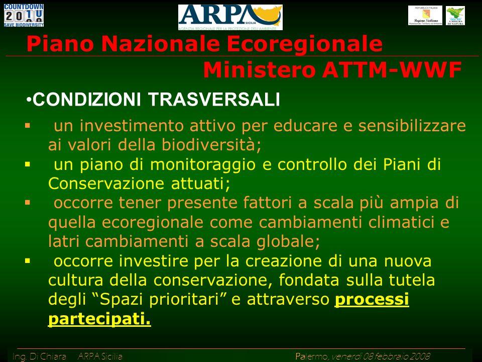 Piano Nazionale Ecoregionale Ministero ATTM-WWF