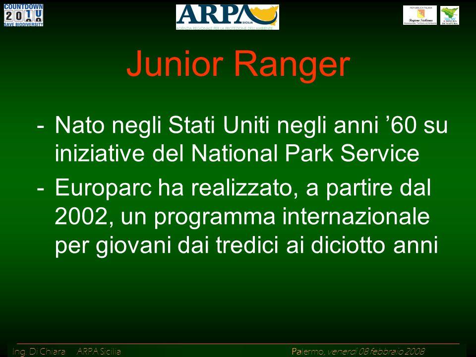 Junior Ranger Nato negli Stati Uniti negli anni '60 su iniziative del National Park Service.