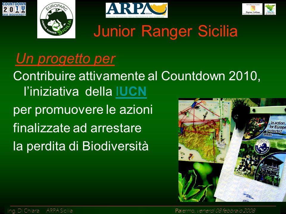 Junior Ranger Sicilia Un progetto per