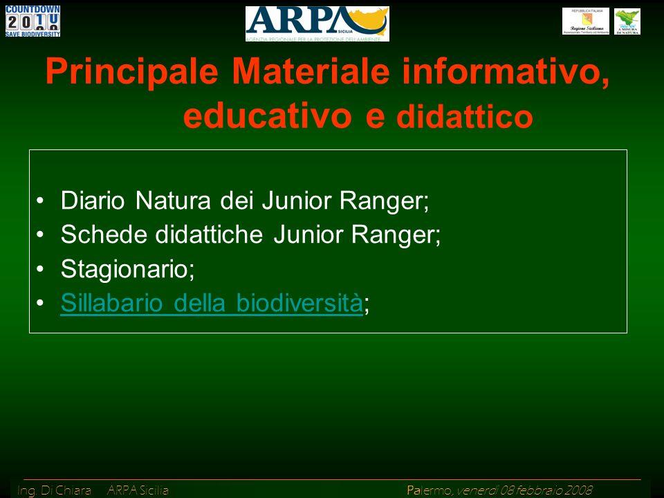 Principale Materiale informativo, educativo e didattico