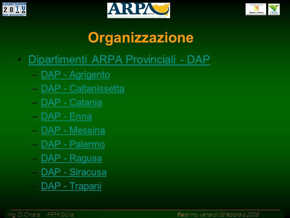 Organizzazione Dipartimenti ARPA Provinciali - DAP DAP - Agrigento