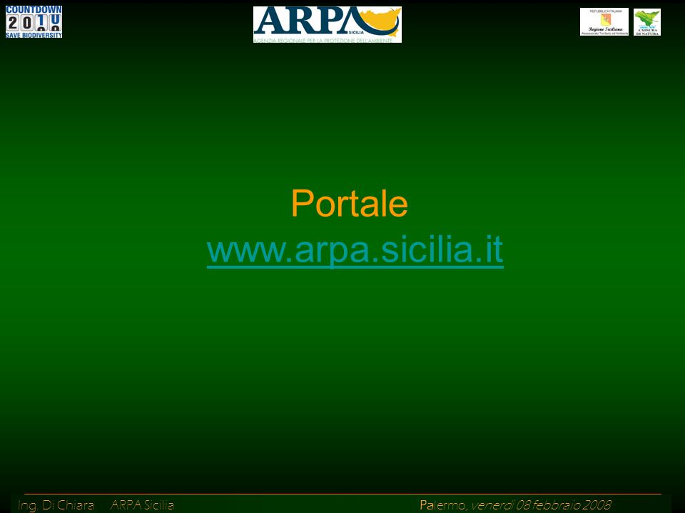 Portale www.arpa.sicilia.it