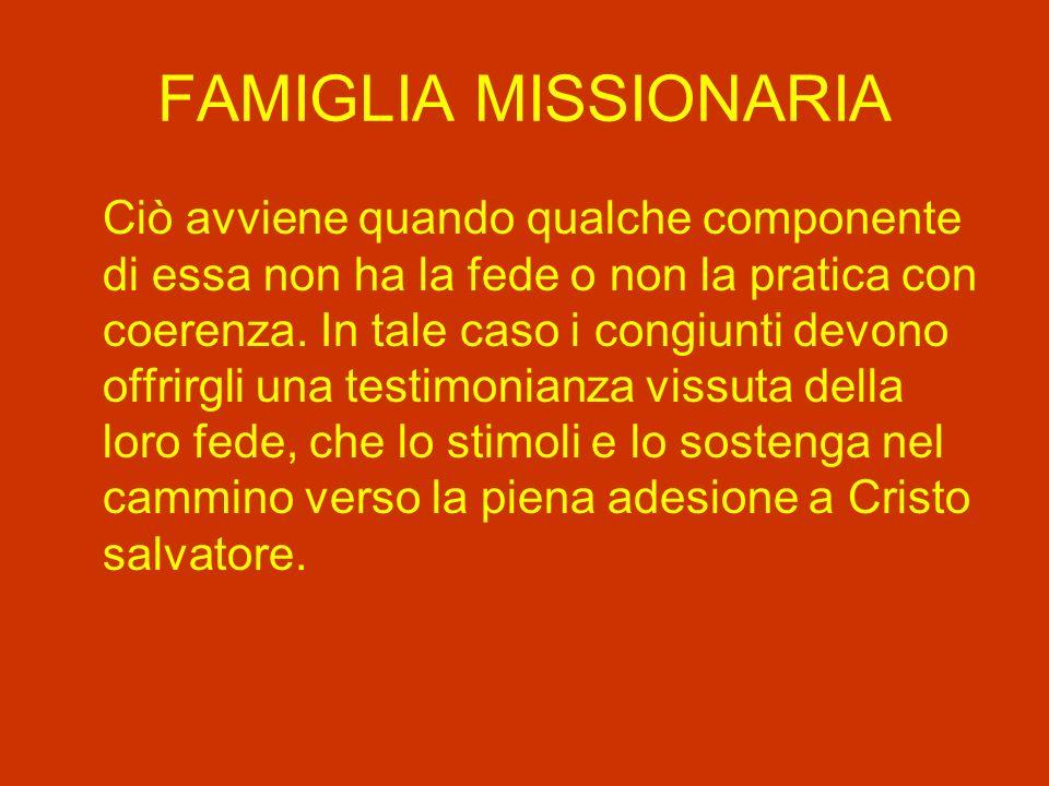 FAMIGLIA MISSIONARIA