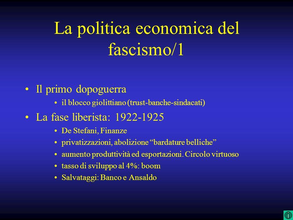 La politica economica del fascismo/1