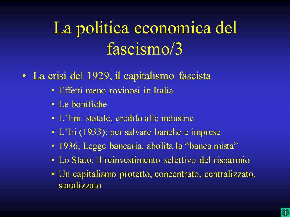La politica economica del fascismo/3