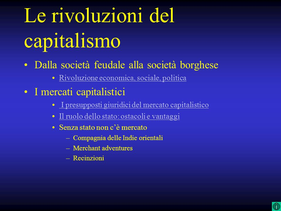Le rivoluzioni del capitalismo