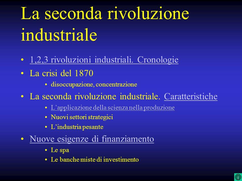 La seconda rivoluzione industriale