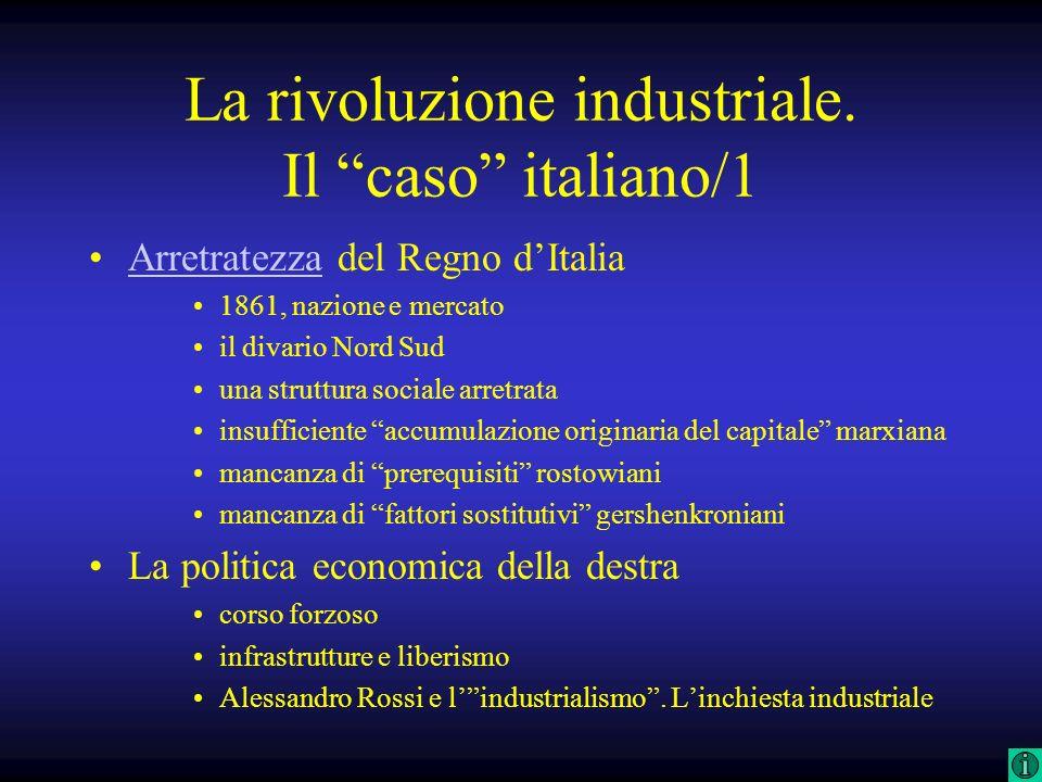 La rivoluzione industriale. Il caso italiano/1