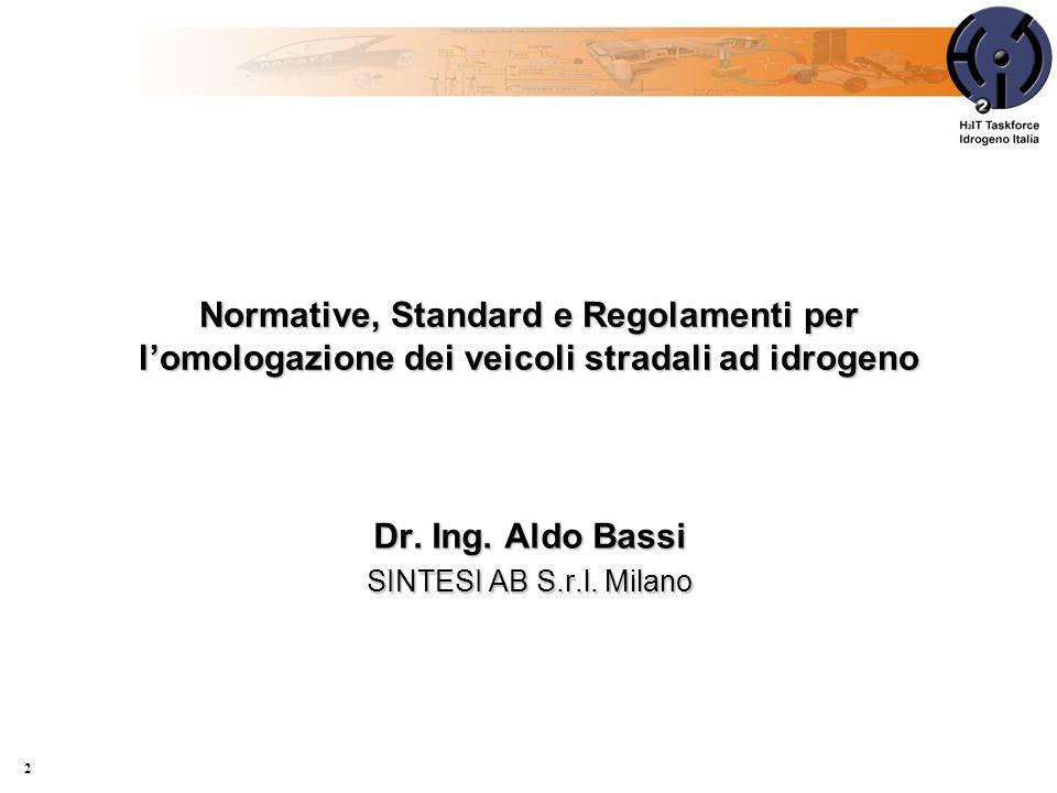 Dr. Ing. Aldo Bassi SINTESI AB S.r.l. Milano