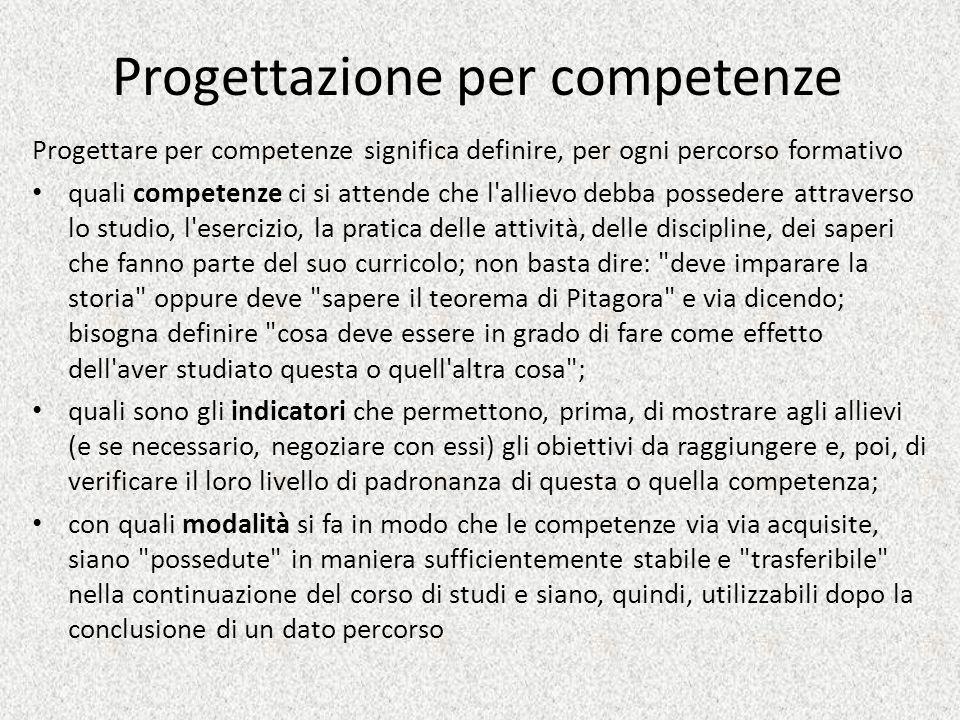 Progettazione per competenze