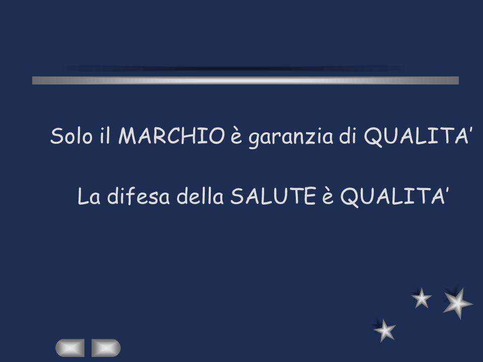 Solo il MARCHIO è garanzia di QUALITA'