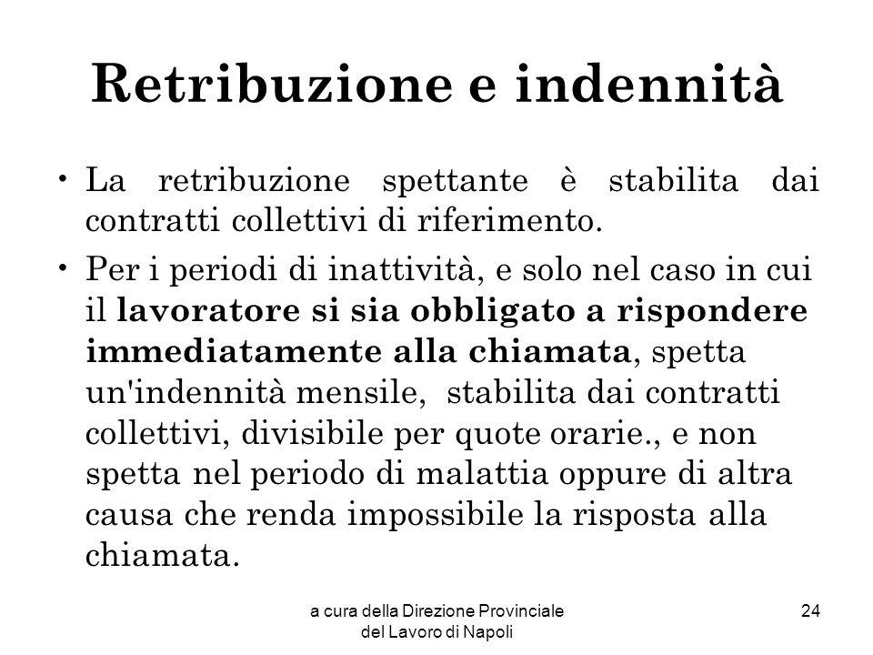 Retribuzione e indennità