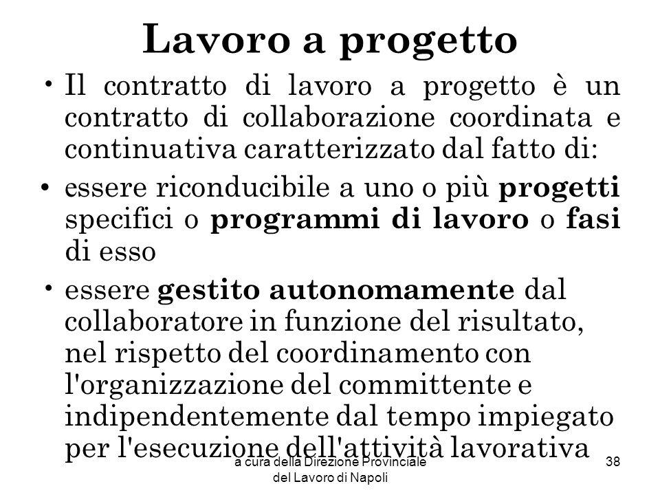 a cura della Direzione Provinciale del Lavoro di Napoli