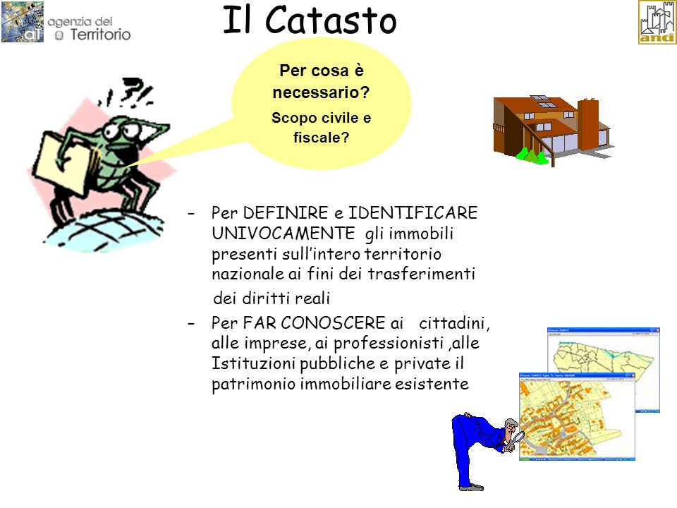 Il Catasto Per cosa è necessario