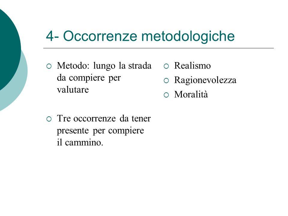 4- Occorrenze metodologiche