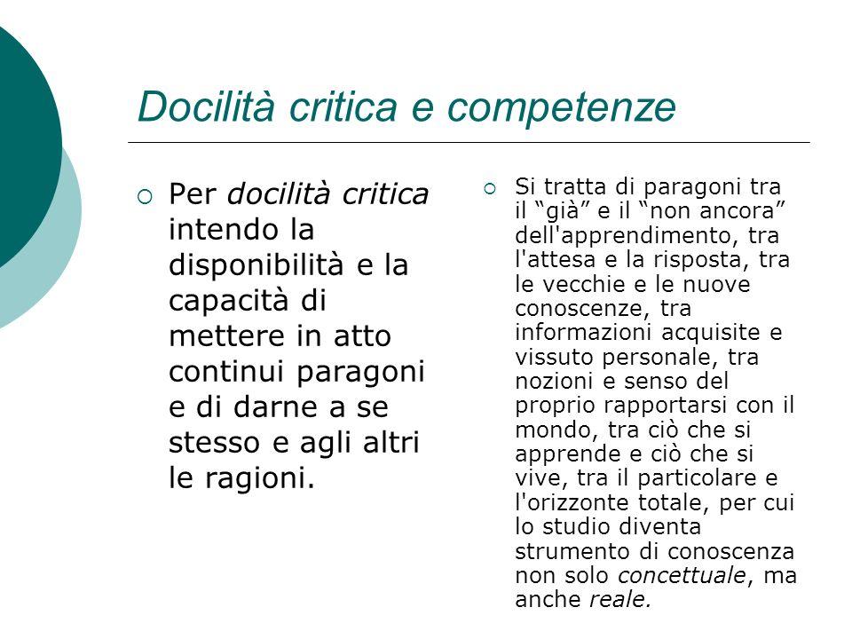 Docilità critica e competenze