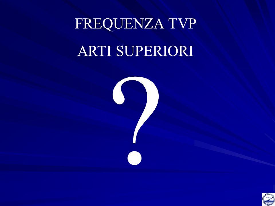 FREQUENZA TVP ARTI SUPERIORI