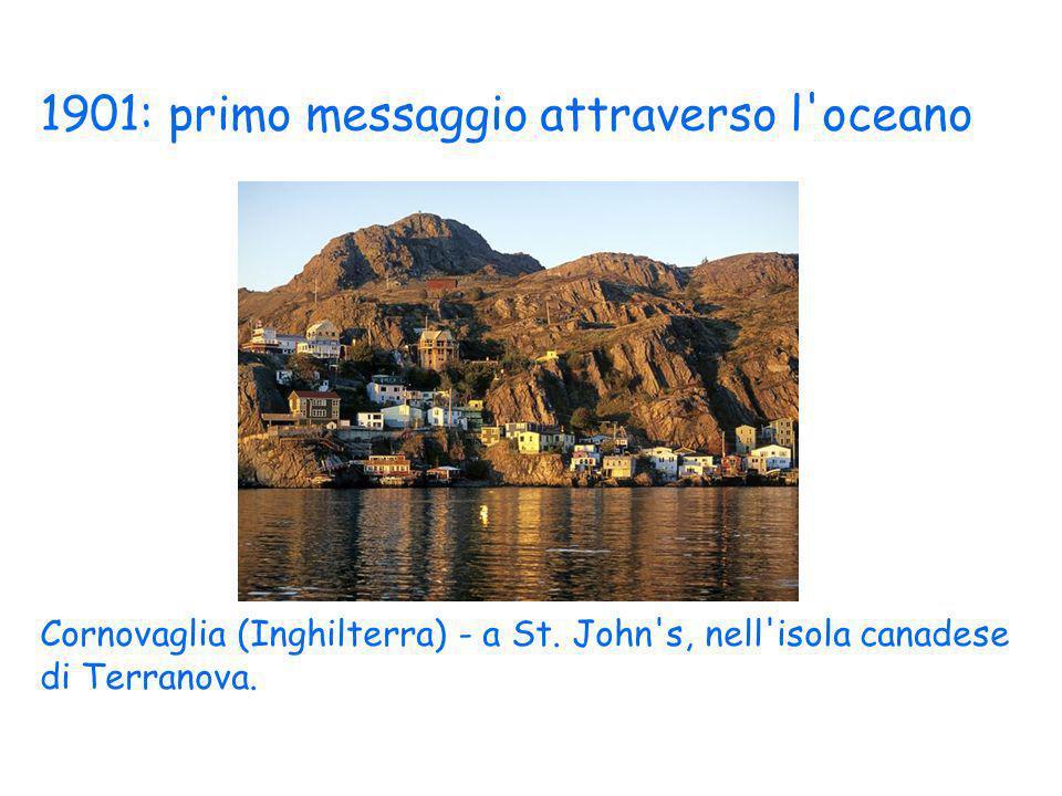 1901: primo messaggio attraverso l oceano