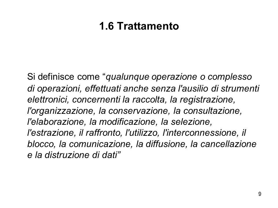 1.6 Trattamento