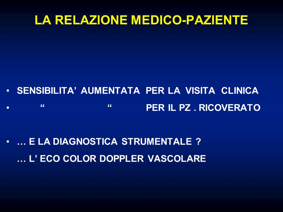 LA RELAZIONE MEDICO-PAZIENTE