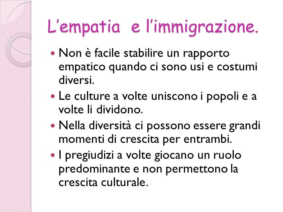 L'empatia e l'immigrazione.