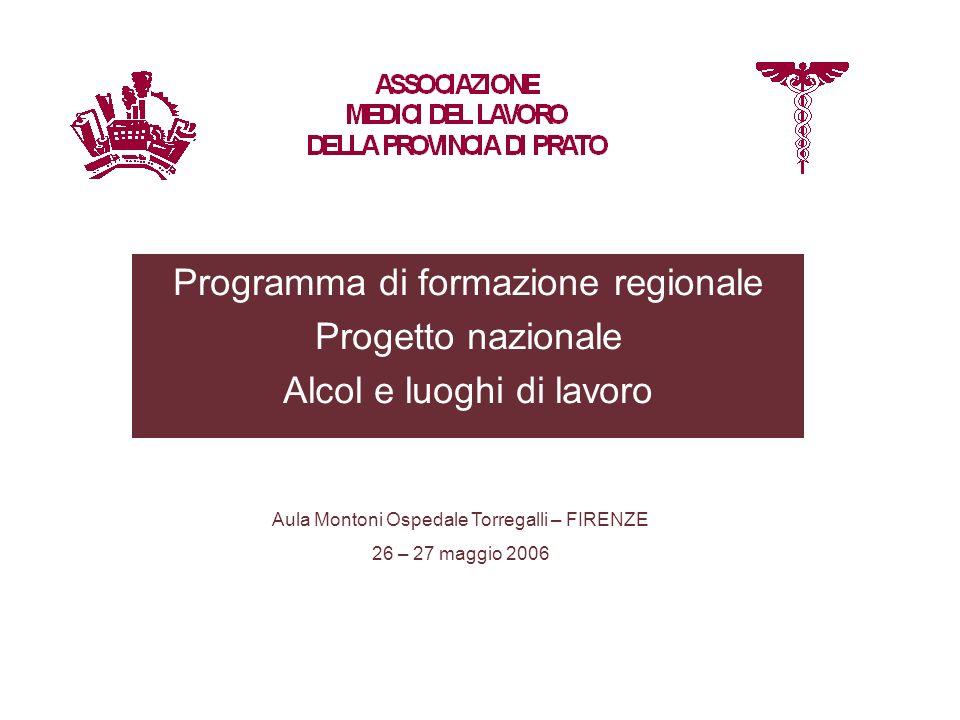 Programma di formazione regionale Progetto nazionale