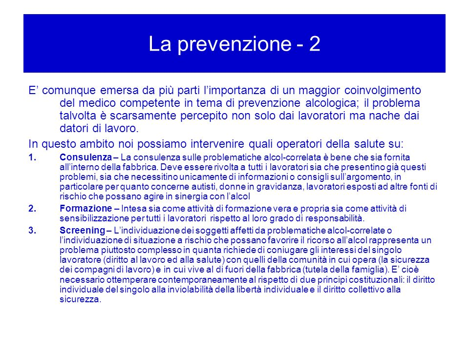 La prevenzione - 2