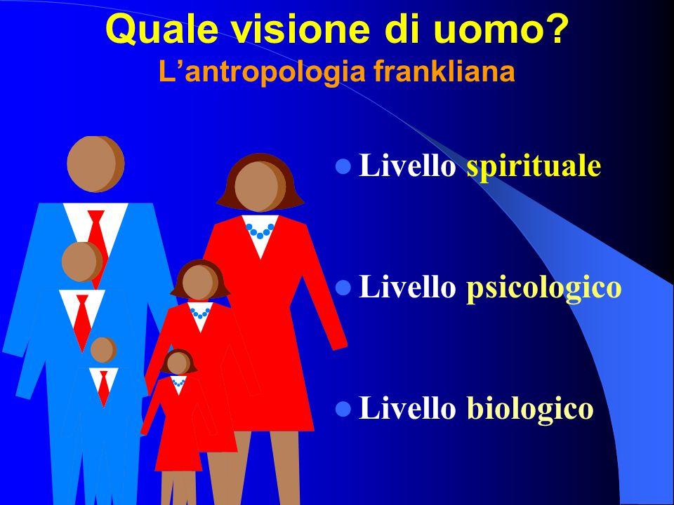 Quale visione di uomo L'antropologia frankliana
