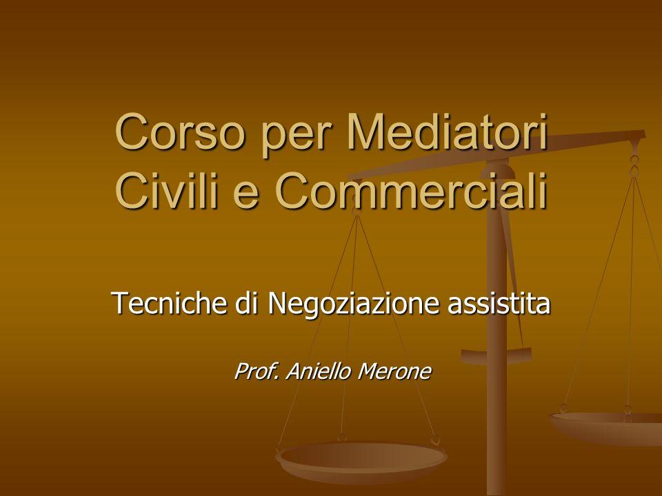 Corso per Mediatori Civili e Commerciali