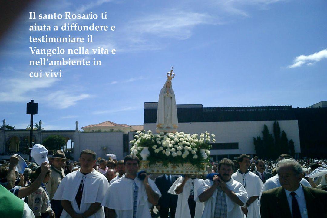 Il santo Rosario ti aiuta a diffondere e testimoniare il Vangelo nella vita e nell'ambiente in cui vivi