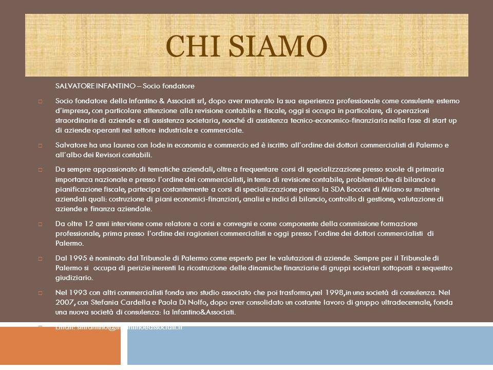 CHI SIAMO SALVATORE INFANTINO – Socio fondatore