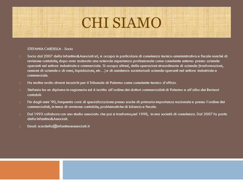 CHI SIAMO STEFANIA CARDELLA - Socio