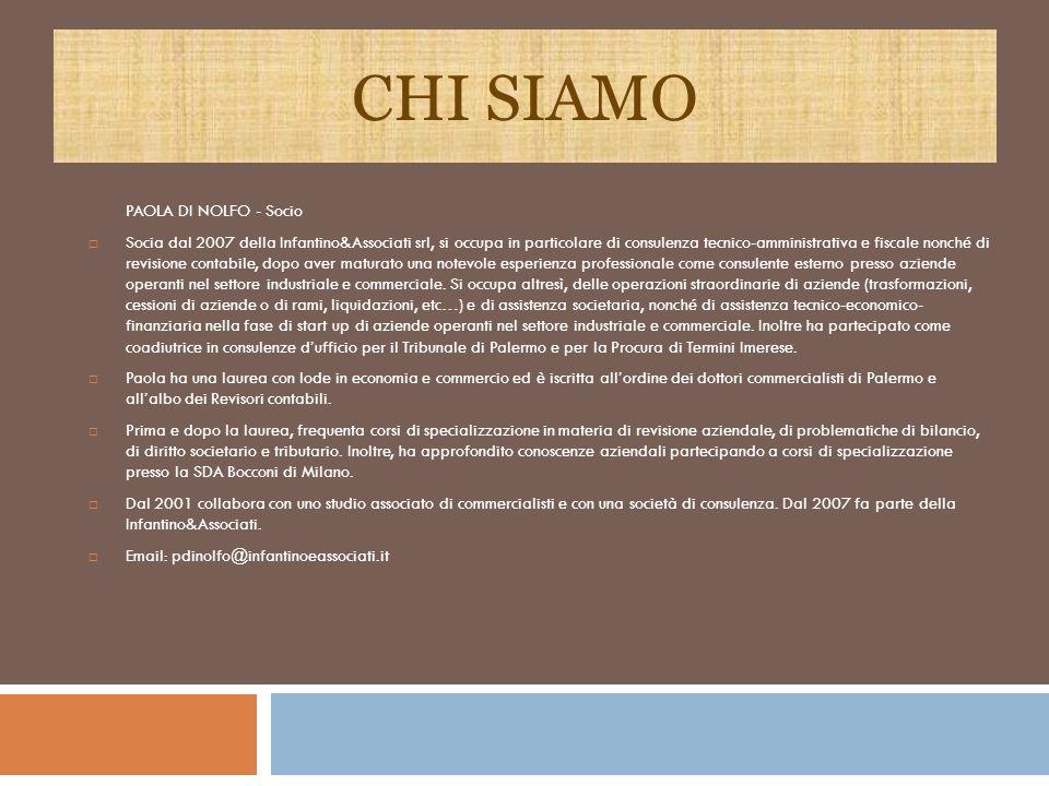 CHI SIAMO PAOLA DI NOLFO - Socio