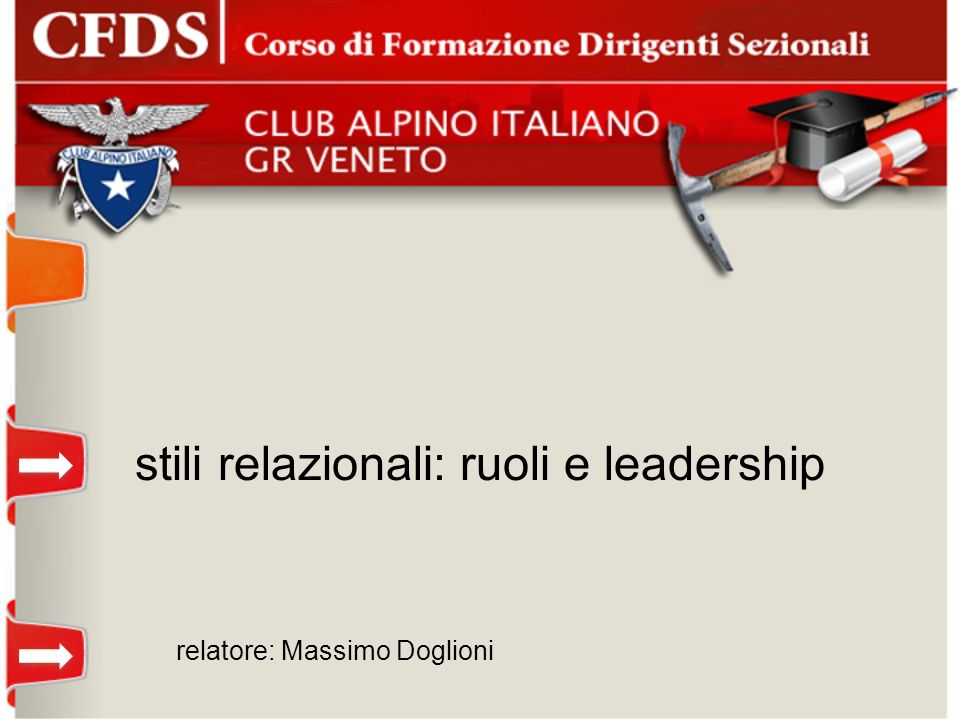 stili relazionali: ruoli e leadership