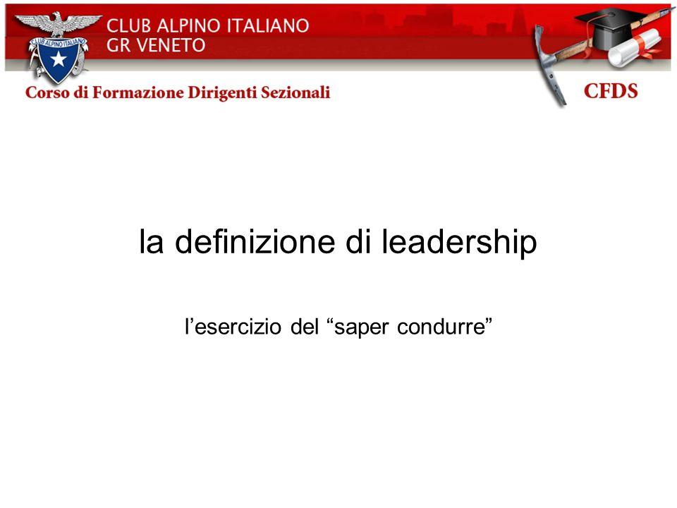 la definizione di leadership