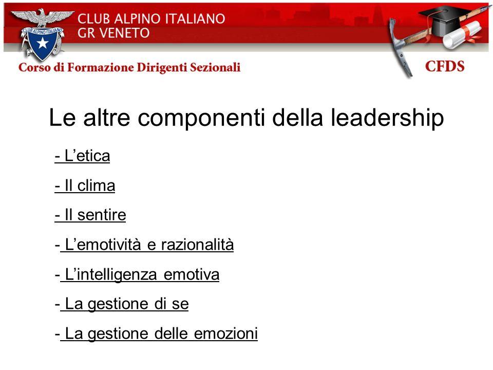 Le altre componenti della leadership
