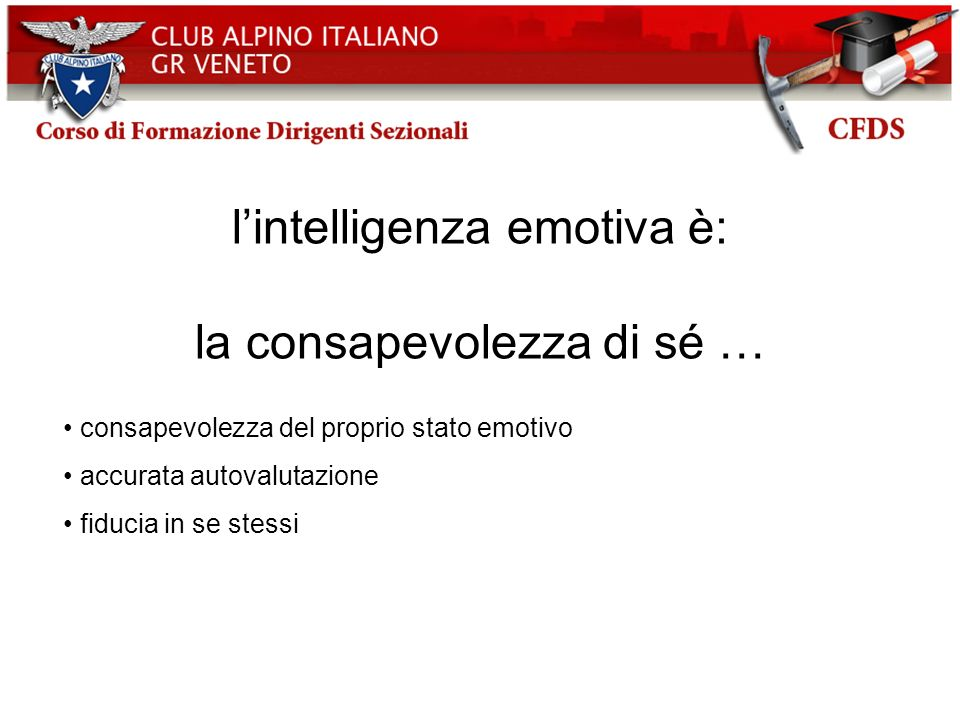 l'intelligenza emotiva è: la consapevolezza di sé …