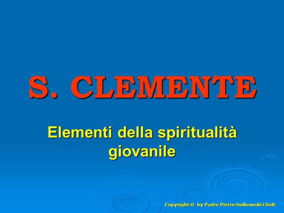Elementi della spiritualità giovanile