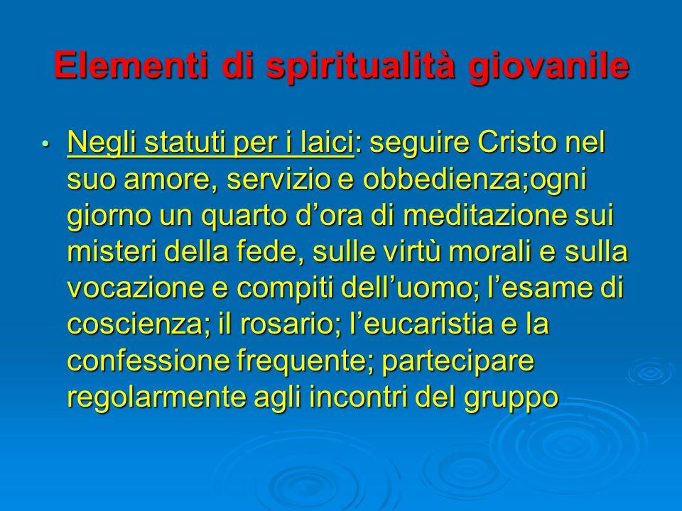Elementi di spiritualità giovanile