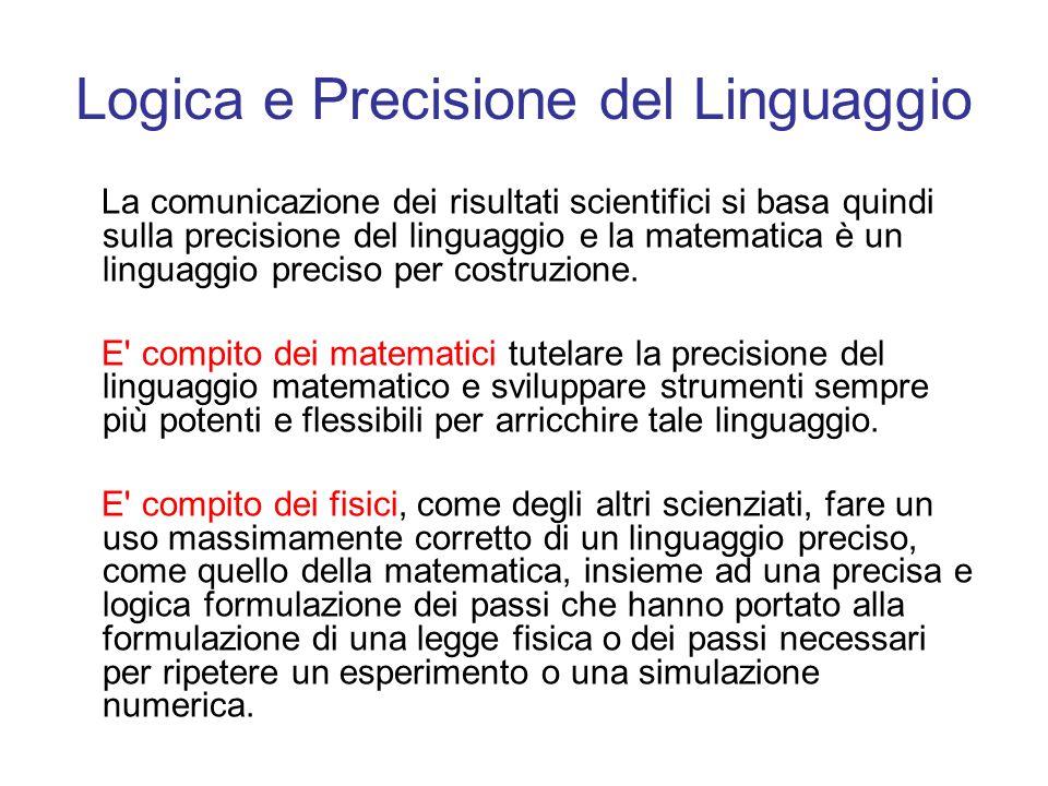 Logica e Precisione del Linguaggio