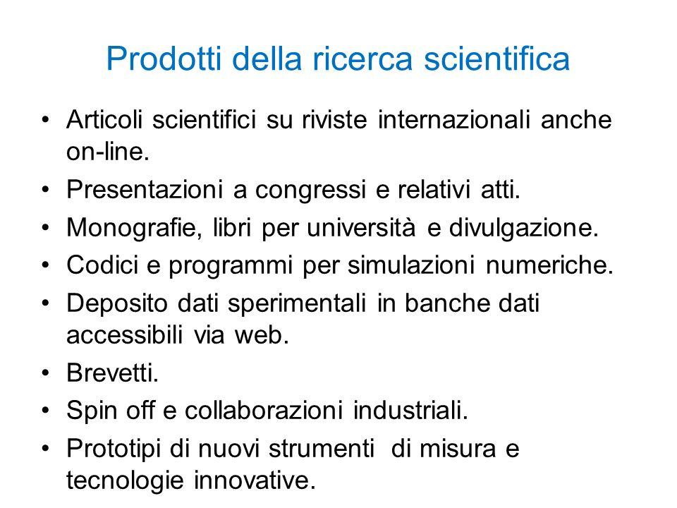 Prodotti della ricerca scientifica