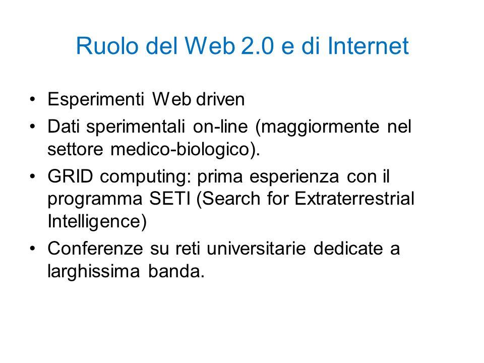 Ruolo del Web 2.0 e di Internet