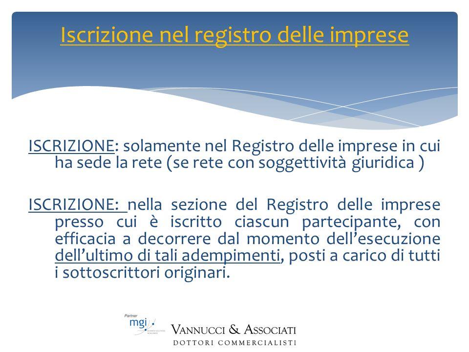 Iscrizione nel registro delle imprese